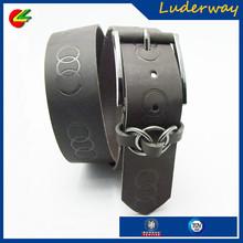 personalized brown wide buckles ladies figure belt with loops