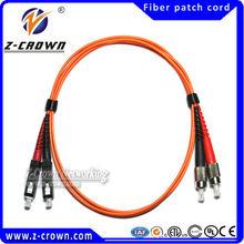 Z-crown IEC 61300-3-4 Standards Fiber Patch Cord MU MU With High Mechanical Durability