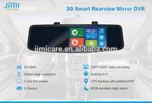 New 2015 JIMI JC600 3G GPS Rearview Mirror DVR car dvr gps radar detector