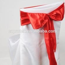 Wholesale colorful satin chair sash for wedding