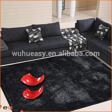 Fresh black sense traditions textiles polyester shag tapis