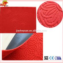 Welcme door entrance durable anti slip rubber floor pp mat