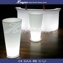 led lluminated wine barrel bar table