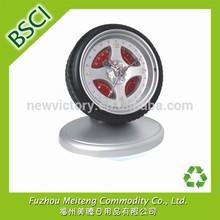 Custom Tyre Shape Clock with Own Logo