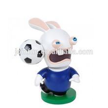 custom rabbit cartoon character plastic figures,plastic rabbit design cartoon figures