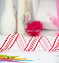 wholesale amazing design compound sheer ribbon with satin picot edge