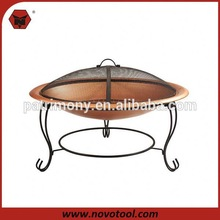 fire pit table with ceramic tiles