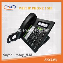 SK622W 2 lines desktop Wifi sip ip phone wifi voip phone
