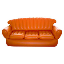 fashion inflatable long sofa for three people