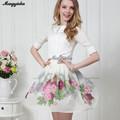 Nuevo China productos para vender en línea 2015 Verano a la moda informal impreso floreado corto bonita mini faldas mujer 5312