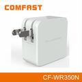 Comfast cf-wr350n 300 mbps 2.4 ghz sem fio portátil range extender sinal repetidor/220v router