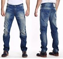 Ocoo High quality OEM service new fashion design damaged monkey wash straight men denim jeans crazy age