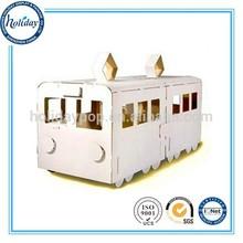 Bus Shaped Cardboard Craft Houses,Kids Foldable Playhouse,Kids Playground Houses