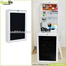 Goodlife wooden wall mount folding laptop desk with blackboard