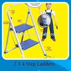 Compact Household Various aluminum & Steel & ABS Plastic 2 3 4 tiers folding Steps platform ladders