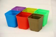 2015 hot sale garden plastic square pots