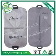 Wholesale nonwoven garment bag custom design bag with plastic hanger