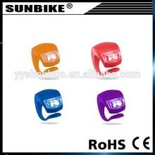 great brightness 2 led high quality mini rubber bike lights