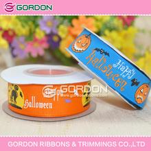 character printed grosgrain ribbon,halloween ribbon,custom printed ribbon