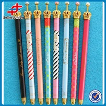New design crown plastic fashion ball pen