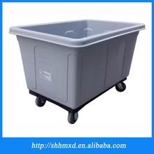 Plastic laundry cart