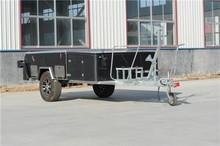 2015 Rongcheng style Baked Enamel Finish rear fold camper trailer/travel trailer/camping trailer