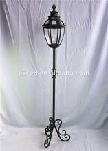 13SA030 Floor standing tall metal candle lantern