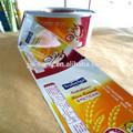 Metalizado filme plástico para embalagem de alimentos lanche