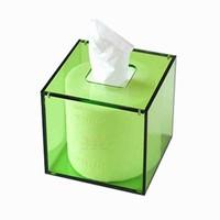decorative tissue box acrylic box roll holder supplier in china
