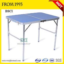Adjustable Aluminum Outdoor Funiture Dining Table And Chair Folding Outdoor Dining Table For Sale