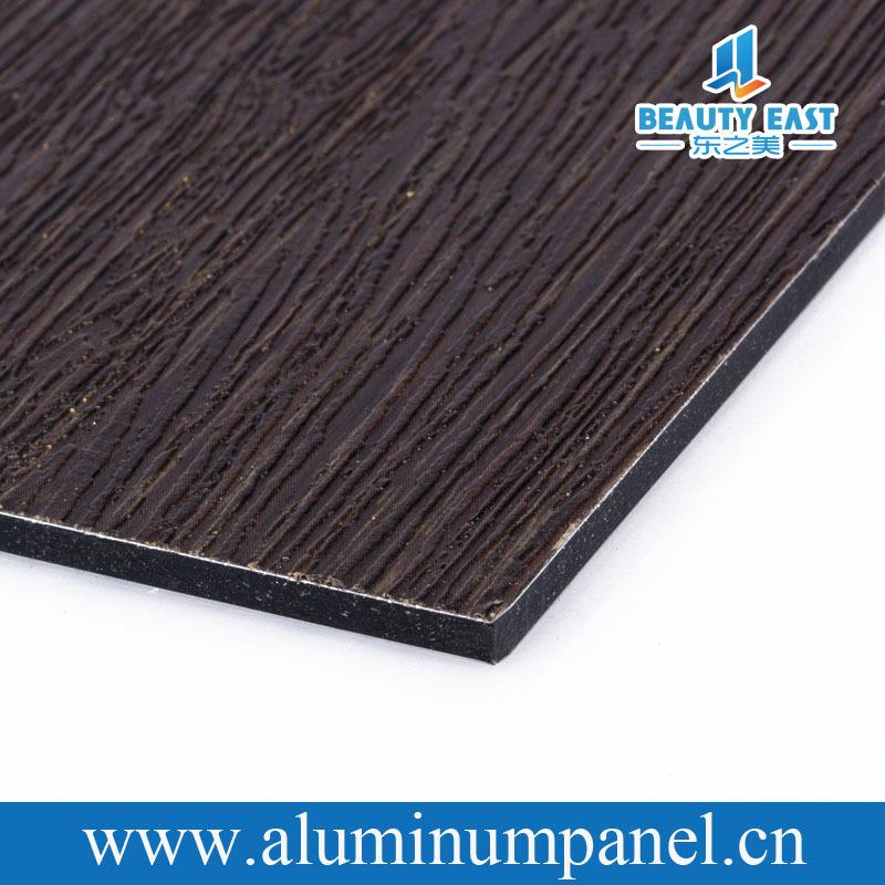 Fireproof aluminum composite panel 3mm interior wood wall for Aluminium composite panel interior decoration