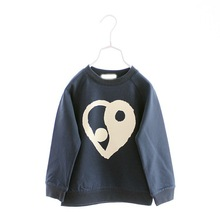 R&H heart print long Sleeve OEM new fashion cotton child tshirts supplier