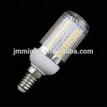 high lumen E14 corn led bulb, light lamp with PC cover housing AC220-240V 5W-7W SMD57301