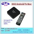Amlogic 8726 mx/mx2 tv kutusu a9 çift çekirdekli smartphone akıllı tv kutusu emanet ödeme kabul
