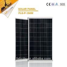 A grade china suplier high quality 150w polycrystalline solar panel price