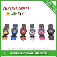 Smart phone lens Clip 3-in-1 0.67x Wide Angle & 10x Macro Lens & 180 Degree Fisheye Lens