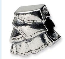 Popular useful european silver charm angel wings
