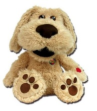 Funny puppy repeating what you said clearly with IC/stuffed plush electronic puppy open mouth to repeat what he heard