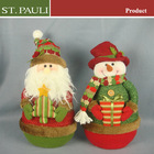 Christmas tree indoor decoration santa claus and snowman christmas table decorations with sandbag