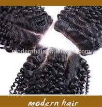 aliexpress cheap 4*4inch 7A mongolian bleached knots kinky curly human hair lace closure