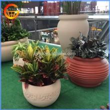 2015 hot sale mini artificial flower pot, wooden planter, fiberglass planter