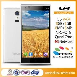 "5"" Fingerprint Android 4.4 HD NFC Dual SIM FDD LTE 4G Smartphone touch screen"
