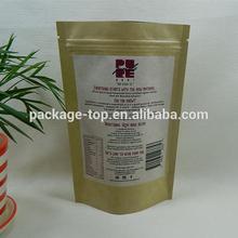 packaging bag manufacturer brown kraft paper bag for food /snack/coffee