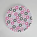 de alta calidad de diseño círculo redondo plato de melamina para alimentos