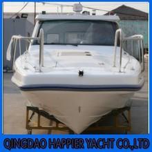 Hot sale 7.6m fiberglass speed cruise boat generator