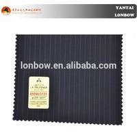 Italian stripe wool cashmere coat fabric for men