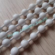 2015 Decorative Pure White Colored Metal Bead Chain Curtain