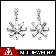 2015 hot sale and cheap women's accessories wholesale crystal earring