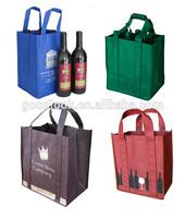 logo printing non woven plastic ice bag for wine