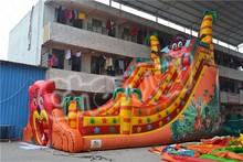 colorful inflatable dry slide,lion inflatable slide,inflatable animal slide